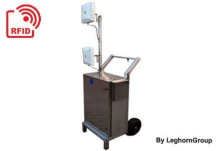 Lector movil RW con ruedas y carrito blindado RFID TROLLEY