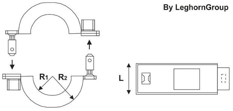 abrazadera plastica antifraude connectionlock diseno tecnico