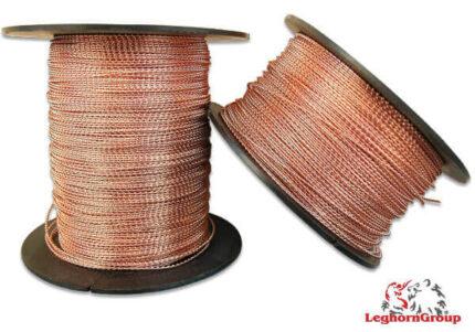 alambre espiralado de cobre