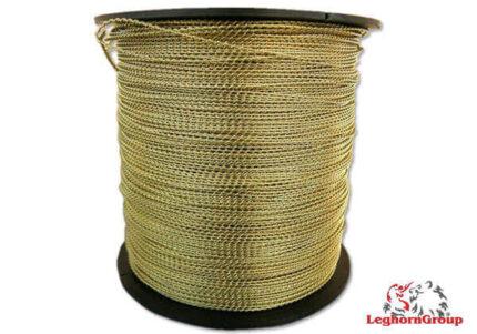 alambre espiralado de latón