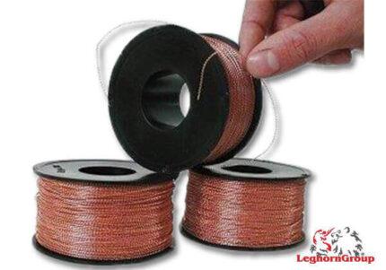 alambre espiralado nailon cobre