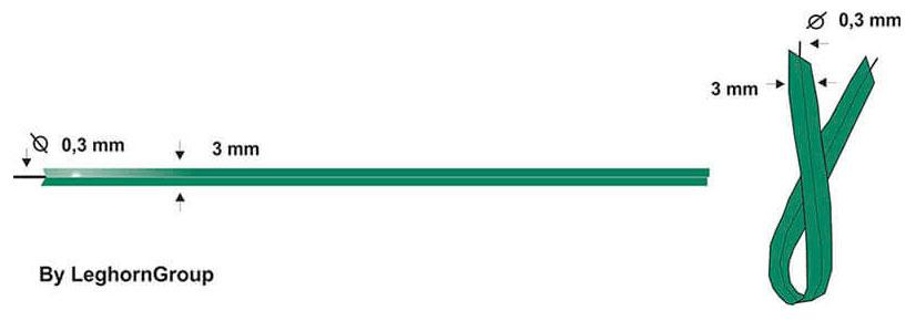 alambre plastificado para plantas bolsas diseno tecnico