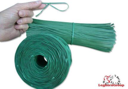 alambre plastificado para plantas y bolsas