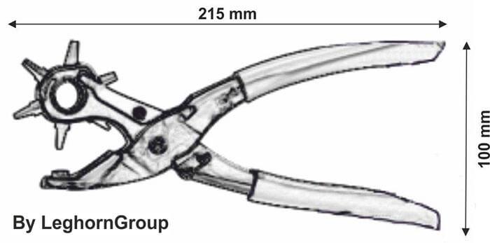 alicate perforador para alfeo seal diseno tecnico