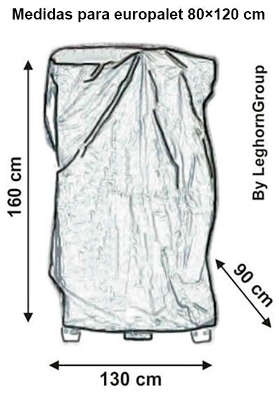 bolsa proteccion polietileno para paletas bologna diseno tecnico