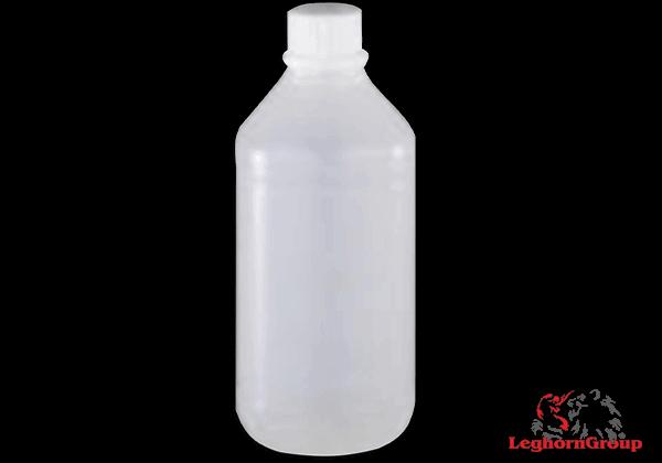 Botella Plástica Redonda De Cuello Estrecho Sellable