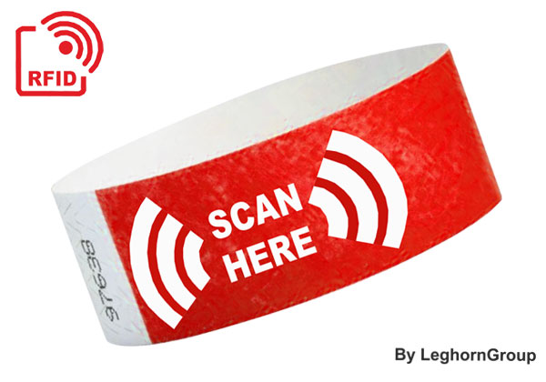 Brazalete De Tyvek RFID