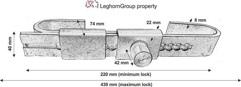 cierre ajustable cargo door lock diseno tecnico
