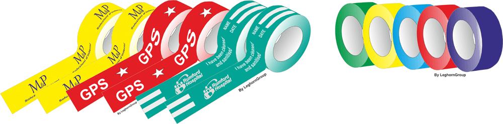 cinta adhesiva coloreada diseno tecnico