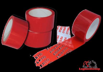 cinta adhesiva de seguridad anti manipulación