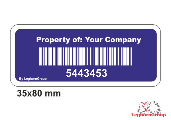 Etiqueta Adhesiva Con Código De Barras Personalizada