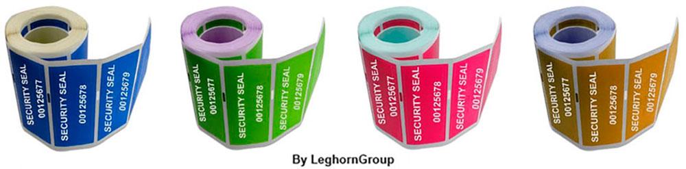 etiqueta de seguridad void colores personalizaciones