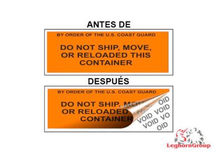 etiqueta para contenedor
