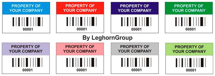 etiqueta para identificacion bienes colores personalizaciones