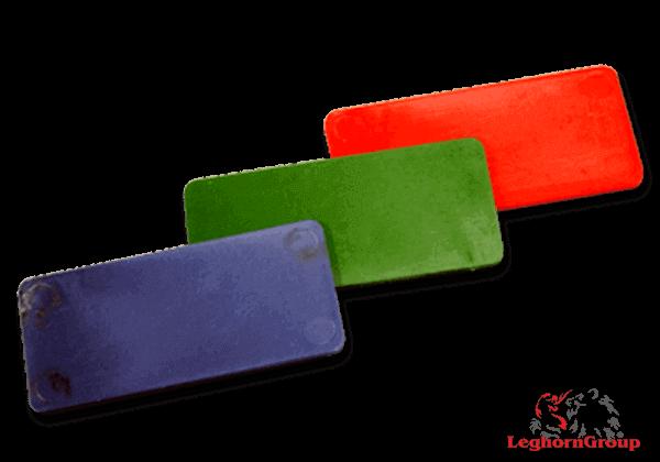 fichas plasticas rectangulares