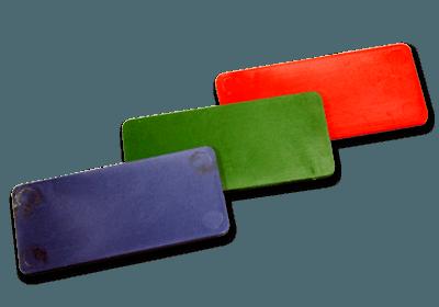 fichas plásticas rectangulares