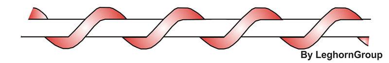 filo spiralato nylon rame colores