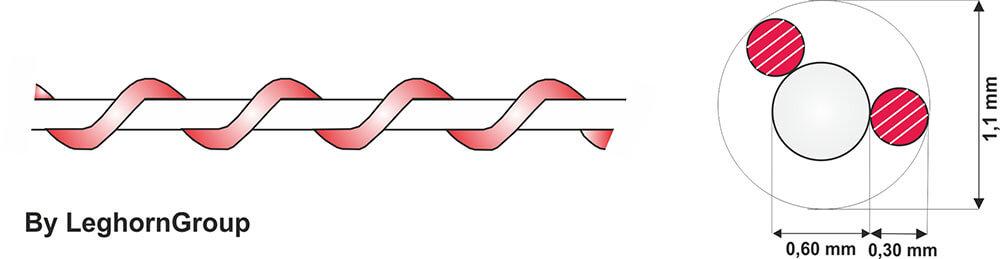 filo spiralato nylon rame diseno tecnico