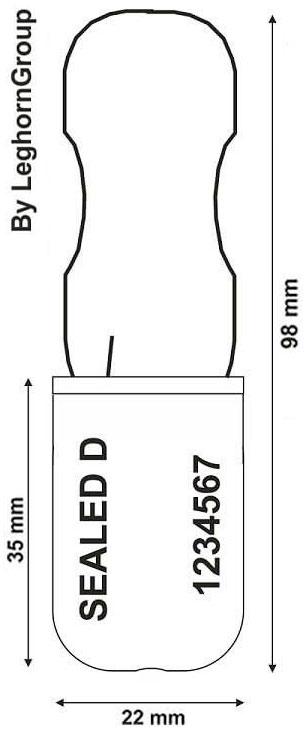 padlock seal 180-1 para companias aereas diseno tecnico