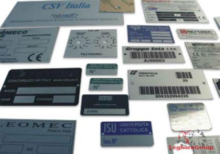placas metálicas en aluminio acero inox latón personalizadas