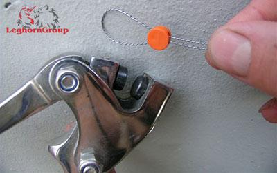 precinto boton plastico plombex como usarlo
