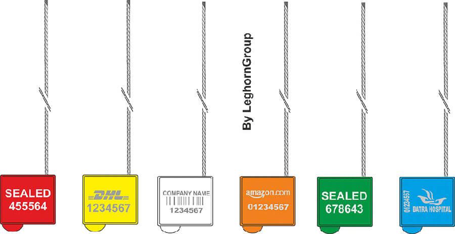 precinto cable doble pasaje cronus seal colores personalizaciones