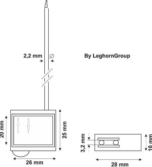 precinto cable doble pasaje cronus seal diseno tecnico
