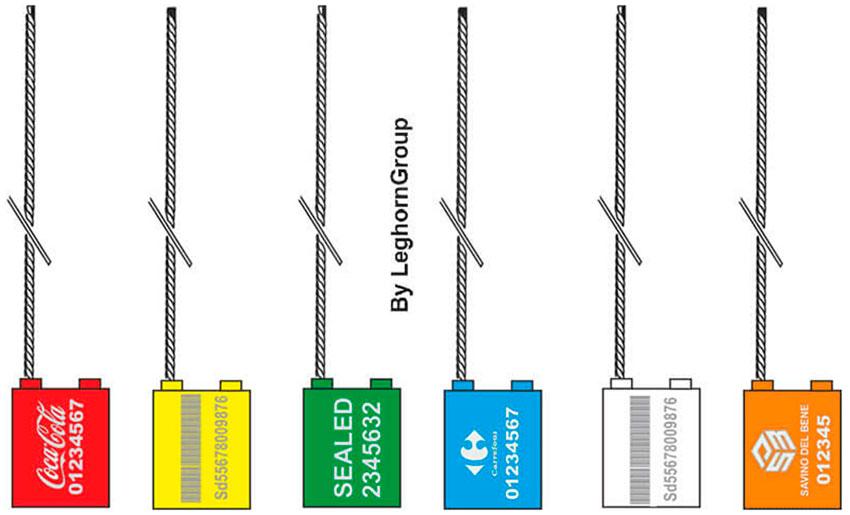 precinto cable para camion borea seal lw 1.5 mm colores personalizacion