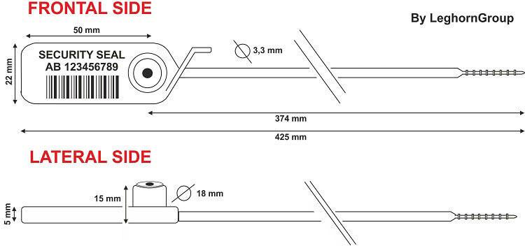 precinto de plastico jupiter 3.3x425 mm diseno tecnico