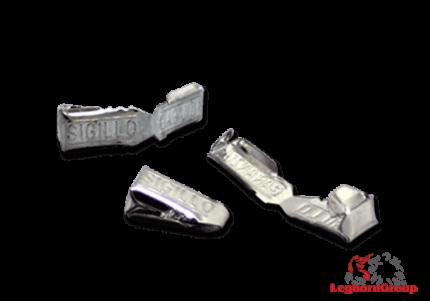 precinto metálico con autobloqueo matcrimp 34x8mm