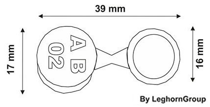 precinto metalico crius seal diseno tecnico