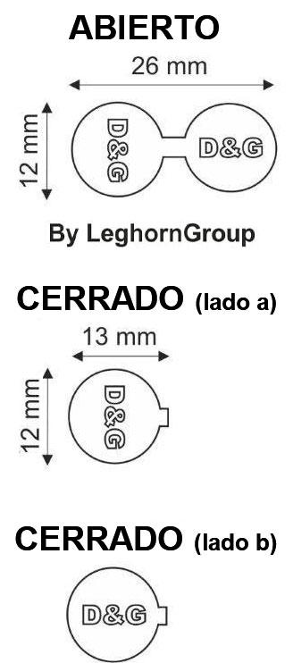 precinto metalico fashion seal diseno tecnico