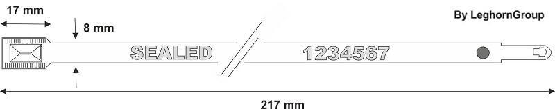 precinto metalico metal seal diseno tecnico