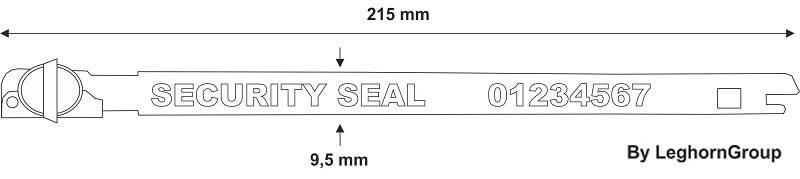 precinto metalico tipo anillo balloon seal diseno tecnico