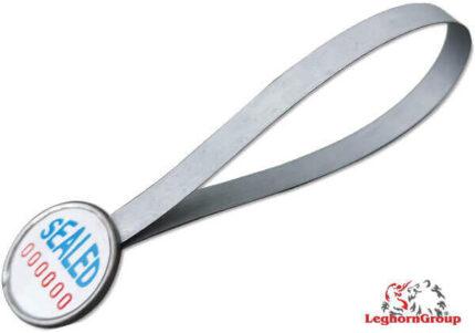 precinto metálico tipo anillo strapseal dm