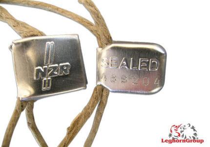 precinto metálico tipo clip crimpseal