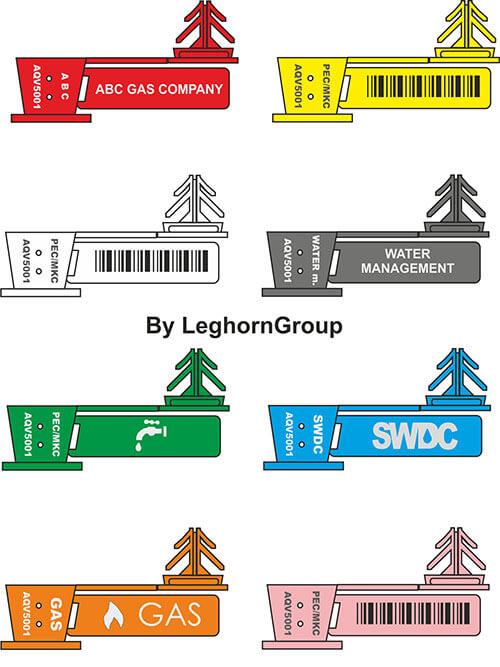 precinto para alambre anchorflag colores personalizaciones