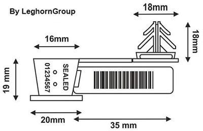 precinto para alambre anchorflag diseno tecnico