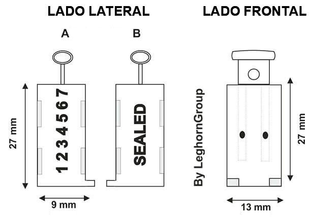 precinto para alambre triton diseno tecnico