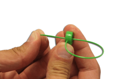 precinto plástico ajustable para contadores merope seal 1x161mm