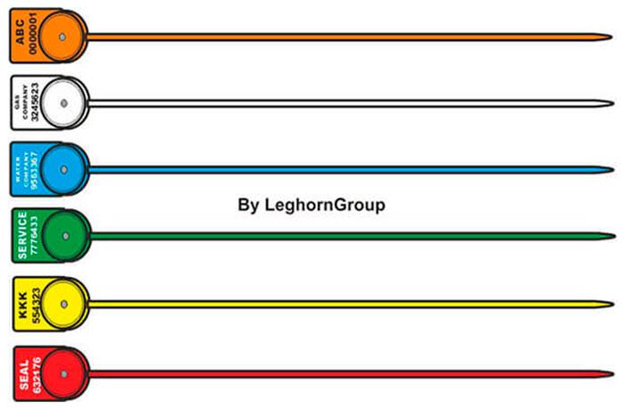 precinto plastico alcyone seal 1×161 mm colores personalizaciones