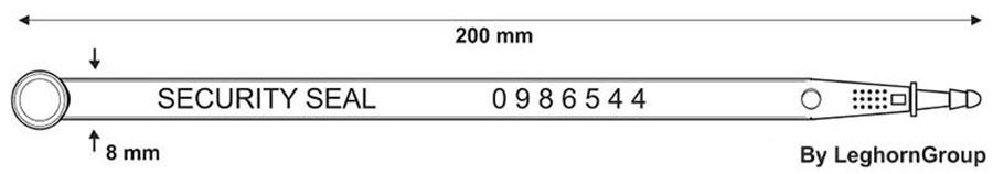 precinto plastico car seal ww003 diseno tecnico