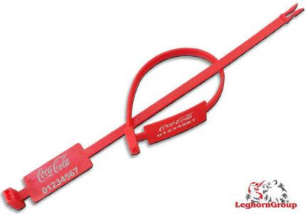 precinto plástico de longitud fija tipo anillo ringlabelseal 7x215mm
