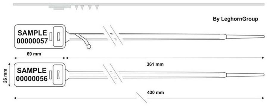 precinto plastico hector seal lt 7.5×430 mm diseno tecnico