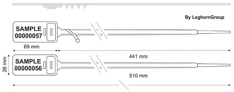 precinto plastico hector seal lt 7.5×510 mm diseno tecnico