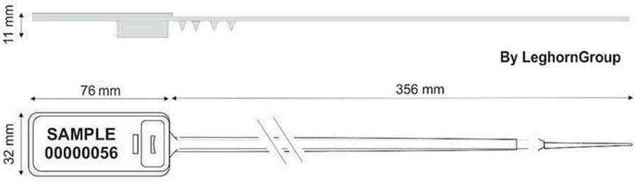 precinto plastico hector seal rfid diseno tecnico