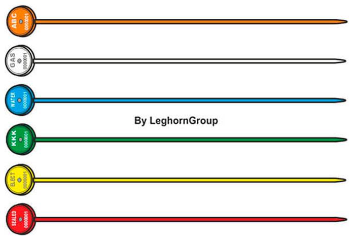 precinto plastico merope seal 1×161 mm colores personalizaciones