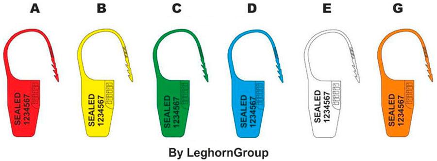precinto plastico ocypite seal colores personalizaciones