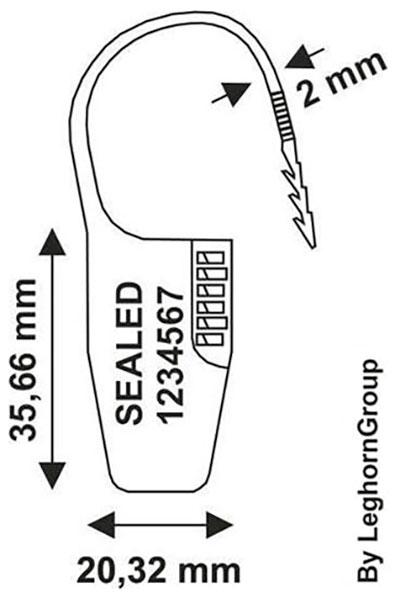 precinto plastico ocypite seal diseno tecnico