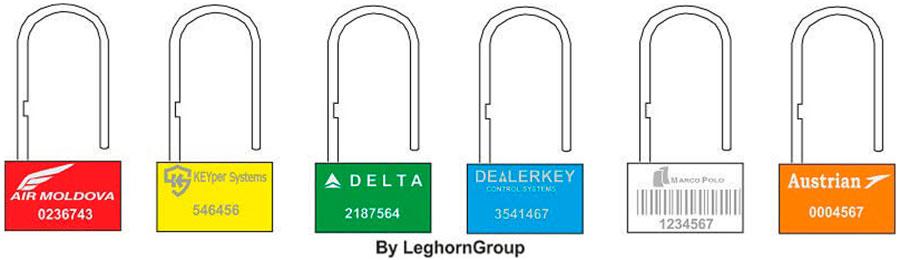 precinto plastico padlock seal 160-4 colores personalizaciones